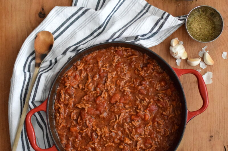 Easy, Homemade Meat Sauce with Pork
